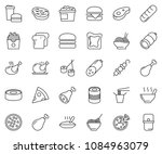 thin line icon set   sausage... | Shutterstock .eps vector #1084963079
