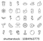 thin line icon set  ... | Shutterstock .eps vector #1084963775