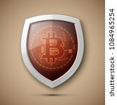 protect hud bitcoin. digital... | Shutterstock .eps vector #1084965254