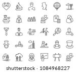 thin line icon set   tie vector ... | Shutterstock .eps vector #1084968227