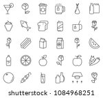 thin line icon set  ... | Shutterstock .eps vector #1084968251