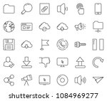 thin line icon set   globe... | Shutterstock .eps vector #1084969277