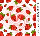 illustration of strawberry... | Shutterstock . vector #1084979111