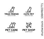 pet logo design template set....   Shutterstock .eps vector #1084982771