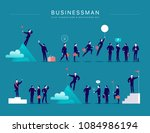 vector flat illustration with... | Shutterstock .eps vector #1084986194