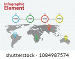 infographic element world map... | Shutterstock .eps vector #1084987574