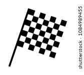 checkered racing flag icon.... | Shutterstock .eps vector #1084989455
