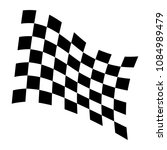 checkered racing flag icon.... | Shutterstock .eps vector #1084989479