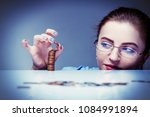 beautiful business woman with...   Shutterstock . vector #1084991894