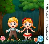 hansel and gretel in the forest | Shutterstock .eps vector #1084997027