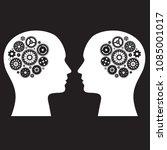 human brain machine with wheel... | Shutterstock .eps vector #1085001017
