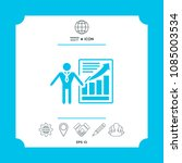 presentation sign icon. man...   Shutterstock .eps vector #1085003534