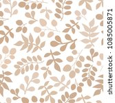 seamless pattern with leaf.... | Shutterstock .eps vector #1085005871