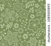 vector floral pattern with... | Shutterstock .eps vector #1085005895