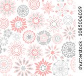 ornate floral seamless texture  ... | Shutterstock .eps vector #1085006039