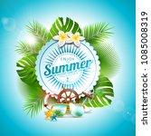 vector enjoy the summer holiday ... | Shutterstock .eps vector #1085008319