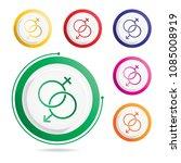 male female symbols icon | Shutterstock .eps vector #1085008919