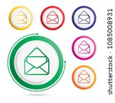 mail icon  vector icons  | Shutterstock .eps vector #1085008931