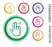 hand gesture icon two fingers... | Shutterstock .eps vector #1085008961