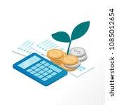 business money saving plan... | Shutterstock .eps vector #1085012654