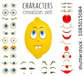 a set of elements for creating... | Shutterstock .eps vector #1085015084