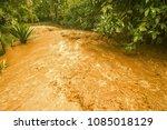 in the rainy season flash flood ... | Shutterstock . vector #1085018129
