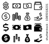 money icon set | Shutterstock .eps vector #1085018231