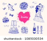 Hand Drawn Vintage Wedding And...