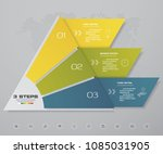 3 steps pyramid with free space ... | Shutterstock .eps vector #1085031905