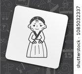 korea woman doodle | Shutterstock .eps vector #1085032337