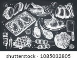 vector collection of hand drawn ... | Shutterstock .eps vector #1085032805
