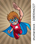 illustration of super hero boy... | Shutterstock .eps vector #1085046227