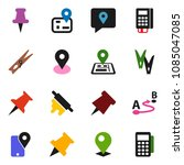 solid vector icon set  ... | Shutterstock .eps vector #1085047085