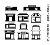 mall and shop building icons.... | Shutterstock .eps vector #1085050697