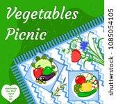 vegetables picnic in the open... | Shutterstock .eps vector #1085054105