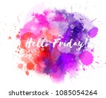 watercolor imitation... | Shutterstock . vector #1085054264