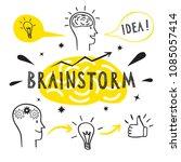 brainstorm doodle elements.... | Shutterstock .eps vector #1085057414