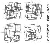 set of black line abstract... | Shutterstock .eps vector #1085060201