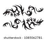dragon vector design | Shutterstock .eps vector #1085062781