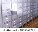 storage cabinet. the open... | Shutterstock . vector #1085069741