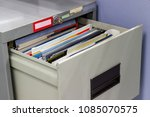 file folder documents in a file ... | Shutterstock . vector #1085070575
