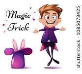 cartoon boy illustration. magic ...   Shutterstock .eps vector #1085073425