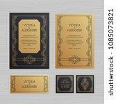 luxury wedding invitation or... | Shutterstock .eps vector #1085073821