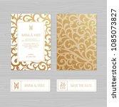 luxury wedding invitation or... | Shutterstock .eps vector #1085073827