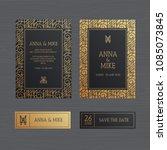 luxury wedding invitation or... | Shutterstock .eps vector #1085073845