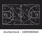 chalkboard with basketball... | Shutterstock .eps vector #1085080064