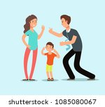 angry husband and wife swear in ...   Shutterstock .eps vector #1085080067