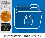 file protection. data security... | Shutterstock .eps vector #1085084159