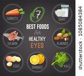 seven best foods for healthy... | Shutterstock .eps vector #1085084384