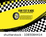 grunge checkered racing... | Shutterstock .eps vector #1085084414